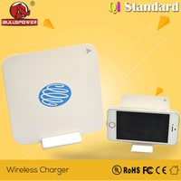 Newest ultra thin QI solar super fast wireless mobile phone charger