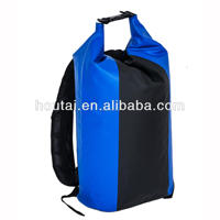 Ningbo 2015 Durable 10L 20L 30L pvc tarpaulin dry bag with shoulder strap for traveling