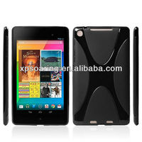 """High quality soft rubber case for Google Nexus ii 7"""" tablet X tpu cover"""