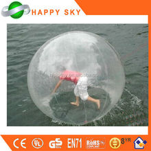 Popular sale toy water filled balls, inflatable rolling ball, smash water ball