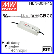 HLN-80H-15 80W 15V 5A Single Output with PFC original Measnwell LED Switching Power Supply