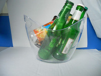 barware clear acrylic plastic ice bucket/wine cooler