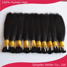 Alibaba human hair bulk extension, chinese hair bulk straight black color 100g per bundle