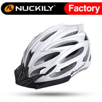 Nuckily White comfortable safety cycling helmet in-mold bike helmet