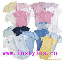 Walson hot sales Off White GOTS Organic Cotton Baby Romper Wholesale