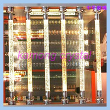 Fashion crystal 3D laser lightedcrystal pillars with LED for wedding decoration