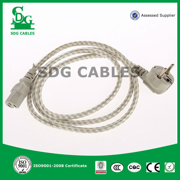 2 pin 220v power cord cable