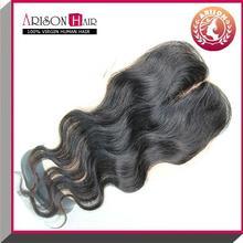 Brand new peruvian lace closure bread bag closure dark brown silk top closure best selling products