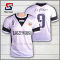 camiseta de fútbol de diseño personalizado de poliester ester de venta caliente, equipo barato de entrenamiento de fútbol, oem camisetas de tailandia de fútbol
