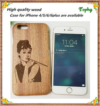 Low price china mobile phone wooden fashion design laser engraving smart phone case for iphone case wood china wholesale