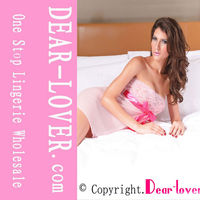 Pink Tie Front cotton nighty Babydoll
