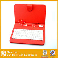 tablet pc usb keyboard for 7 inch tablet with leather case