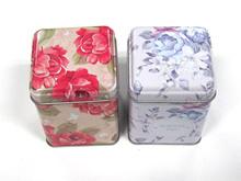 Nice small square tea tin box,tin caddy