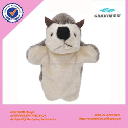 Plush animals hand puppets, Customised toys,CE/ASTM safety stardard