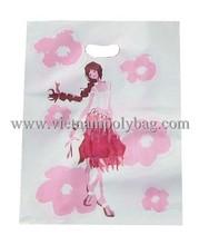 Custom printing die cut plastic poly bag made in Viet Nam