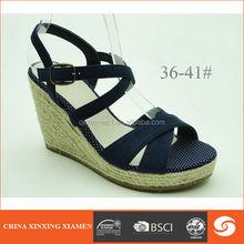 2015 high heel wedge sandals black peep toe