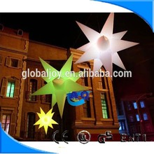 High quality cheap multi-color illumination event led inflatable star/new advertising inflatable star