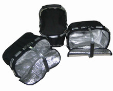 Collapsible cooler picnic basket with one handle