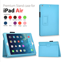 Premium Folio Leather Case Cover Flip Stand for iPad Air