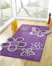Printed washable area rug and carpet