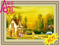 YIWU KAINA AUTUMN GOLDEN LANDSCAPE HOME DECOR DIAMOND OIL PAINTING