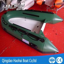 10.8ft 330cm high pressure pvc material fiberglass inflatable fishing boat
