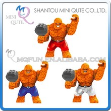 Mini Qute DECOOL 3pcs/set Marvel Avenger Fantastic Four The Thing building block action figure educational toy NO.0153-0155