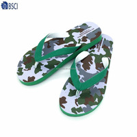 Lady summer silk print PE sole wholesale slippers from china