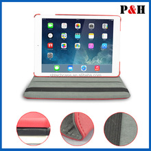 360 Degree rotation stand leather case,leather pouch For ipad air