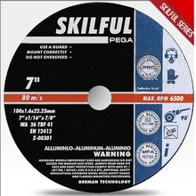"""7"""" 180X1.6X22.23 aluminium abrasive cut off wheel withen12413 // made in china"""