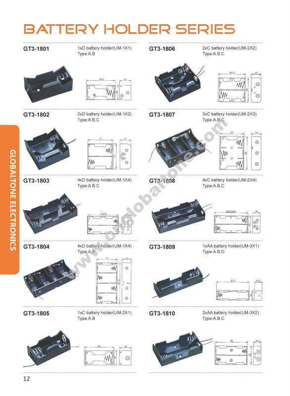 AAA battery holder GT3-183 battery powered led light box blackberry ...