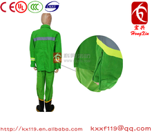 97type Green Orange Comfortable fabric 100% cotton fire fighting suit for fire man