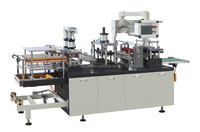 HLD-450W Automatic Disposable Lid Making Machine For Plastic Yogurt Cup