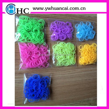 Best quality bag 300pcs loom bands sets/loom bands bag with colorful bands