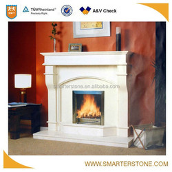 Cheap China Polished White Marble Fireplace Mantel