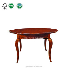 High quality DT3010 Dark walnut colour 100% solid wood round extending Dining table