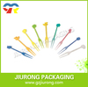 Disposable plastic different colors and shape fruit pick