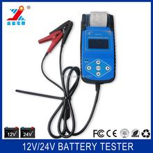 12V/24V Car battery analyzer with printer