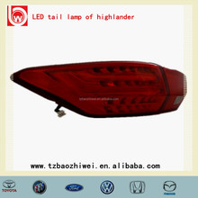 PMMA+ABS+Aluminum LED OEM automobile car new type tail lamp/tail light/rear lamp/rear light for highlander 2015