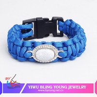 High quality beads paracord bracelet with charm