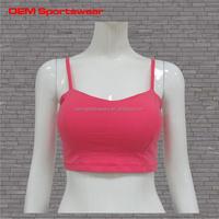 Fashion design yoga sports women sexy nude bra athletic wear