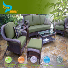 4 People Seat Wicker / Rattan Outdoor Patio Rounder Furniture Set
