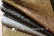 Zk872-1 hojas en relieve de cuero sintético/rexin de pvc de cuero 1986 desde