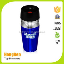 New design 16oz double wall vacuum stainless steel travel mug with customized logo printing