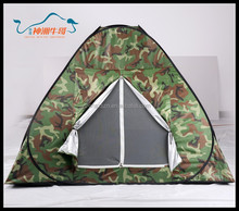 2015 Wholesale 2-3 Person Military Use Outdoor Tent with Wind-break Ropes and Pegs