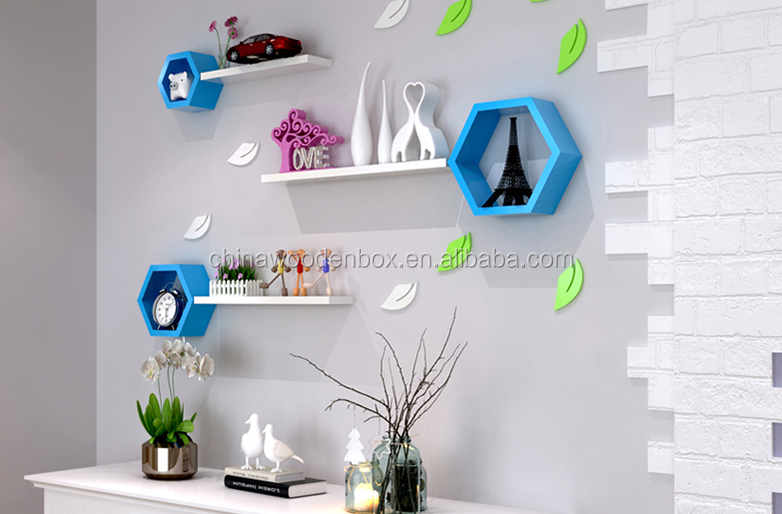 Geometrische figuur houten wandplank houten muur plank decoratieve ...