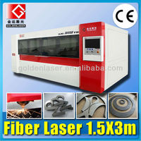 Stainless steel fiber laser cutting machine with cover /Fibra de acero inoxidable de la maquina de corte por laser