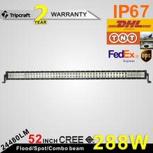 Factory direct 288w offroad led light bar with best LED chips and components