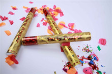 gold party confetti shotter