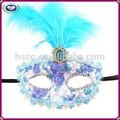 singular mardi gras máscaras máscaras realistas para la venta con pluma
